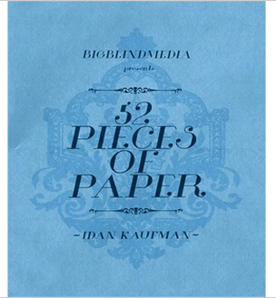 2014 52 Pieces Of Paper by Idan Kaufman (Download)