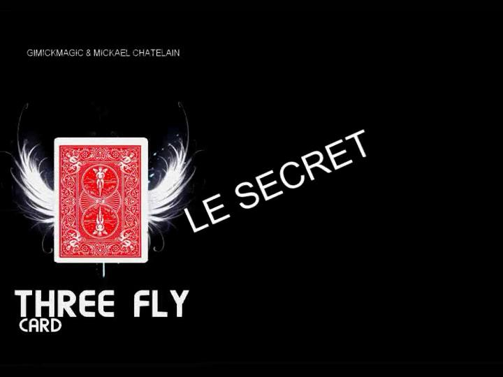 THREE FLY CARD by Gimickmagic & Mickael Chatelain LA METHODE VERSION FRANCAISE