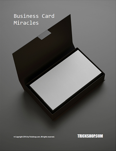 Business Card Miracles Trickshop (PDF Download)