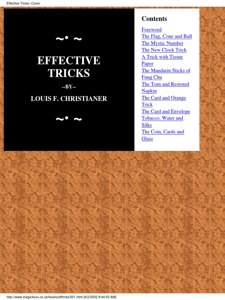 Loius Christainer - Effective Tricks