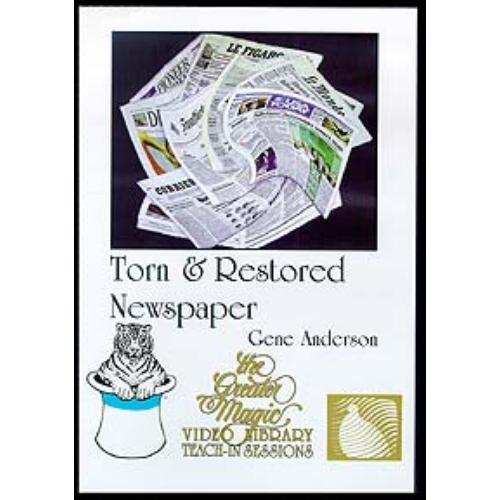 Gene Anderson - Torn & Restored Newspaper