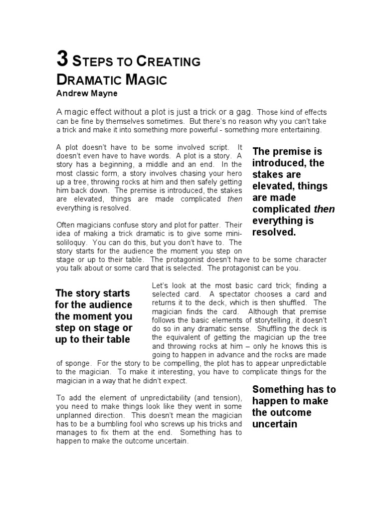 Andrew Mayne - Three Steps to Dramatic Magic