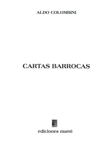 Aldo Colombini - Cartas Barrocas