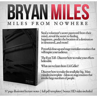 Miles from Nowhere Lecture Notes by Bryan Miles