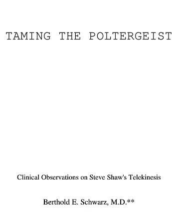 banachek - taming the poltergeist