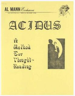 Al Mann - Acidus - A Method for Thought Reading