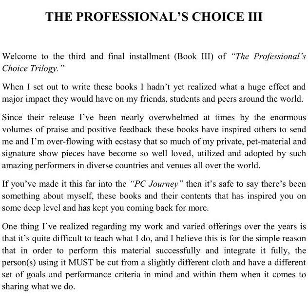 The Professional's Choice (1-3) by Jerome Finley