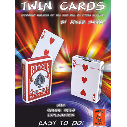 Twin Cards by Joker Magic (Online Instructions)