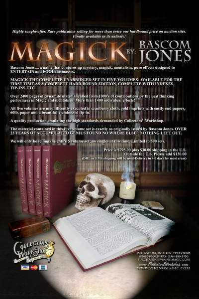 Bascom Jones - Magick (Issues 1 - 496) - complete PDF download