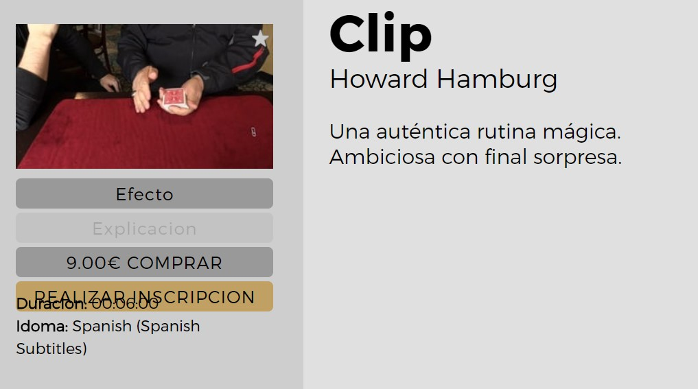 Clip by Howard Hamburg (video download)