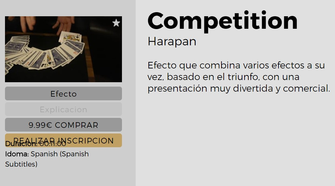 Competition by Harapan Ong (video download)