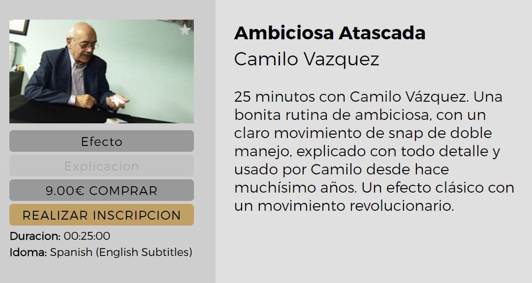 Ambiciosa Atascada by Camilo Vazquez (video download Spanish)