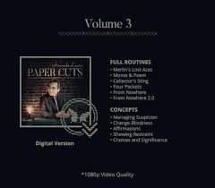 Paper Cuts Vol 3 by Armando Lucero (video download)