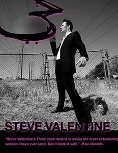 Three by Steve valentine - 3 Card Routine (DVD download)
