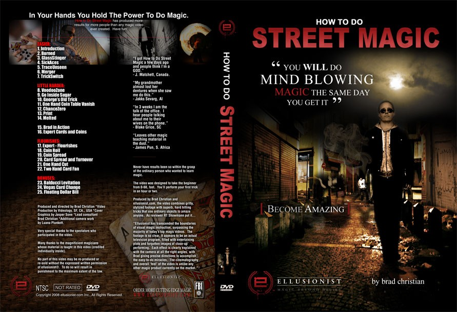 How To Do Street Magic by Brad Christian (DVD download)