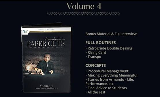 Paper Cuts Vol 4 by Armando Lucero (DVD Download)
