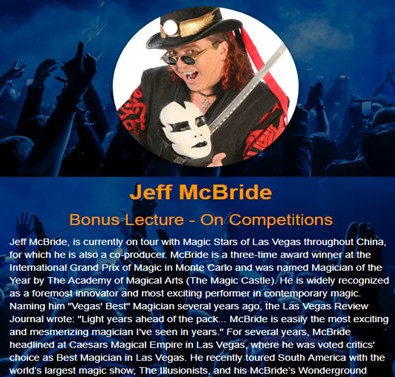 Jeff McBride's Bonus Lecture - On Competitions