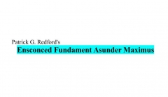 Ensconced Fundament (Asunder Supplemental Concepts) by Patrick Redford (PDF Download)