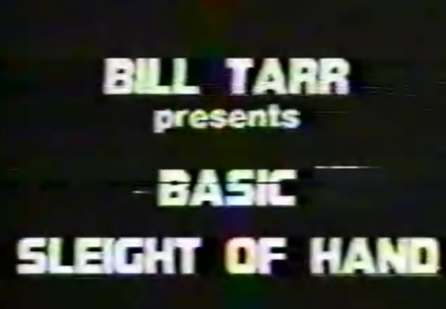 Basic Sleights and Routines by Bill Tarr (Original DVD Download, ISO file)