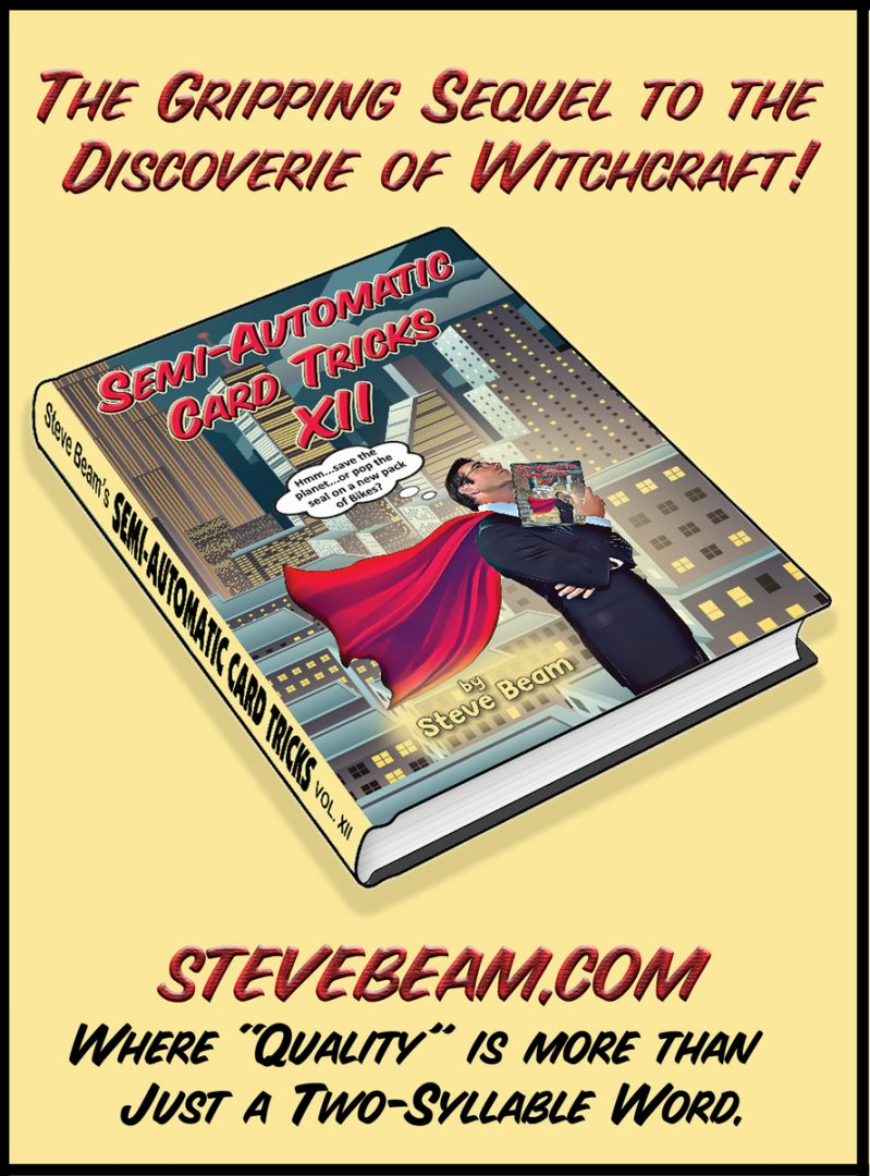 Semi-Automatic Card Tricks Vol 12 + Cumulative Index By Steve Beam