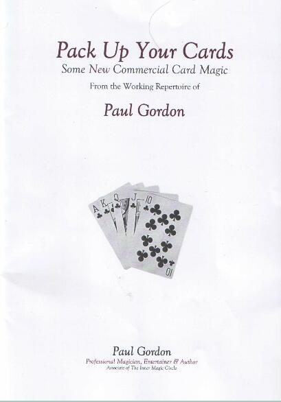 Paul Gordon - Pack Up Your Cards Vol 1