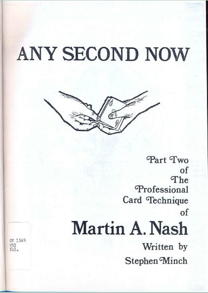 Martin A. Nash - Any Second Now