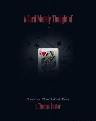 Thomas Baxter - A Card merely thought of