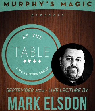 At the Table Live Lecture - Mark Elsdon