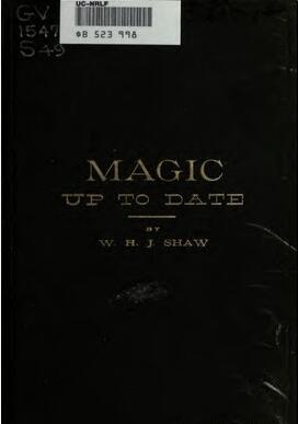 W.H. Shaw - Magic Up to Date