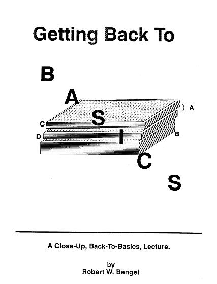 Robert W Bengel - Getting Back To Basics