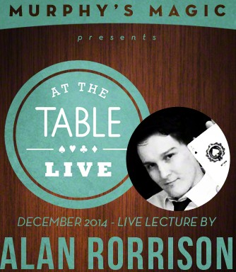 At the Table Live Lecture starring Alan Rorrison 2014