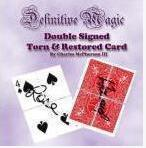 Definitive Double Signed Torn Restored Card