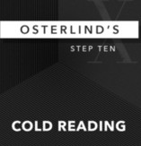 Osterlind's 13 Steps: Step 10: Cold Reading by Richard Osterlind