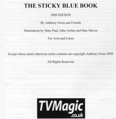 Anthony Owen - The Sticky Blue Book