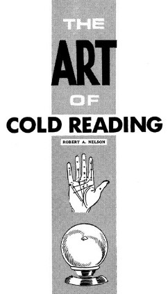 THE ART OF COLD READING - ROBERT NELSON