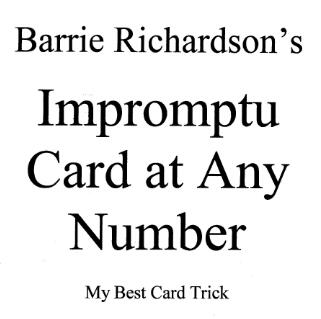 Barry Richardson - Impromptu Card at any Number