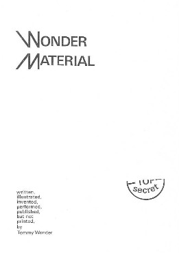 Wonder Materials By Tommy Wonder