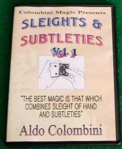 Aldo Colombini - SLEIGHTS AND SUBTLETIES 3sets