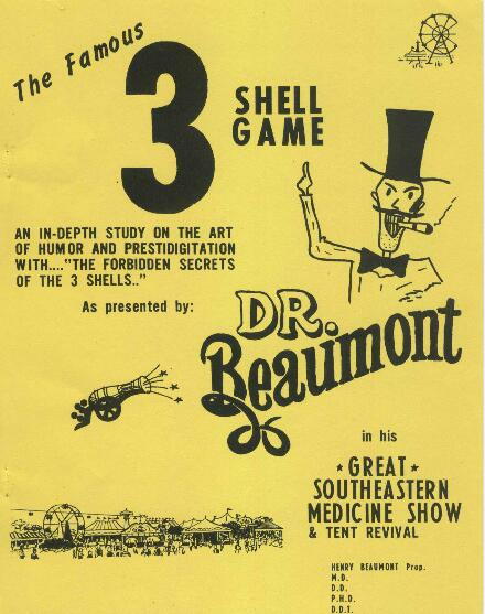Dr. Beaumont - 3 shell game