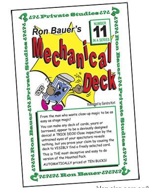 Ron Bauer - 11 Mechanical Deck