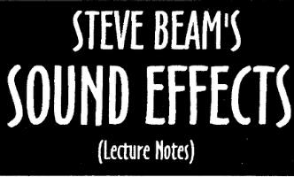 Steve Beam - Sound Effects