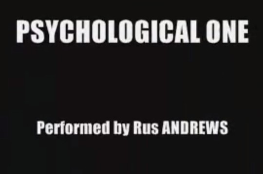 Rus Andrews - Psychological One