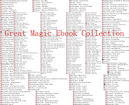 Great Magic Ebook Collection