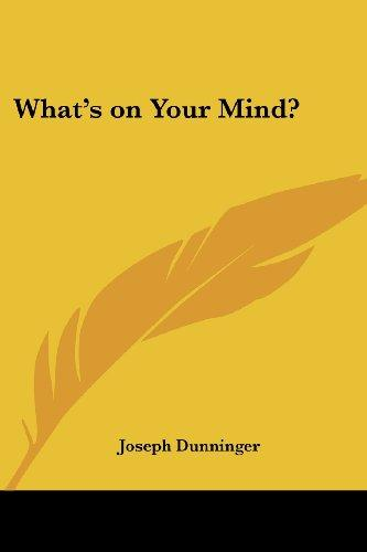 JOSEPH DUNNINGER - WHAT'S ON YOUR MIND