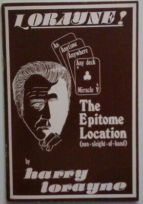 Harry Lorayne - The Epitome Location