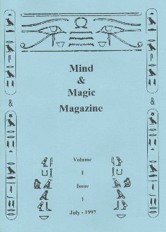 Ted Lesley Mind Magic magazine Vol1 Issue 1 July 1997