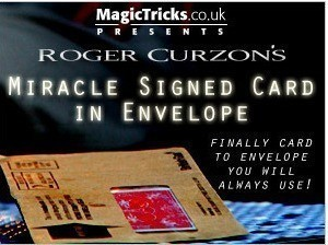Roger Curzon - Miracle Signed Card in Envelope