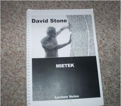 David Stone - Mietek Lecture Notes