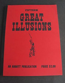 Fifteen Great Illusions Abbott Publication Magic Tricks