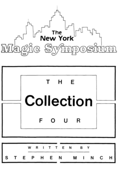 Stephen Minch - The New York Magic Symposium Vol 4